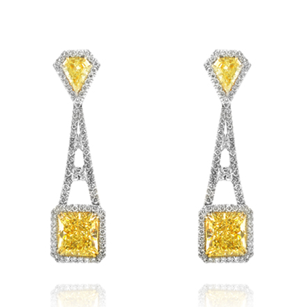 The Leibish & Co. Eiffel Earrings