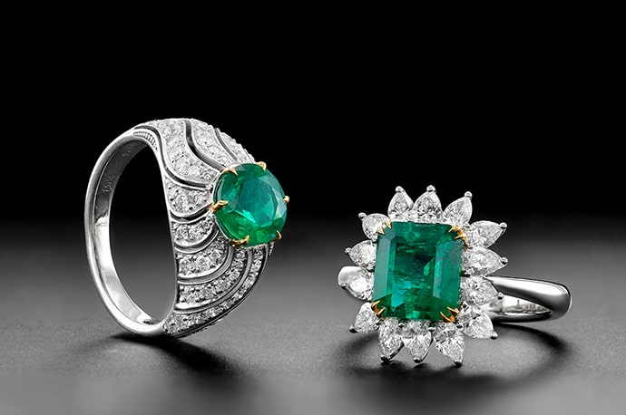 Leibish Emerald Rings
