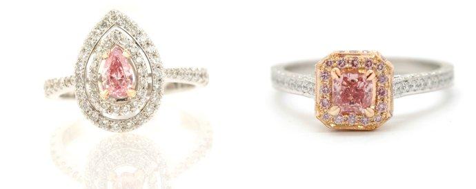 Fancy Intense Pink Diamond Rings