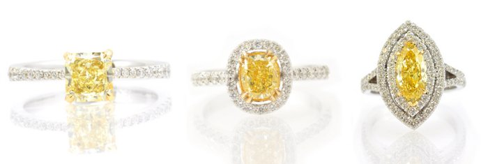 Fancy Intense Yellow Diamond Rings