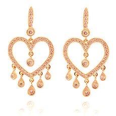 Fancy Pink Chandelier Diamond Earrings