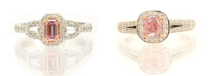Fancy Pink Diamond Rings