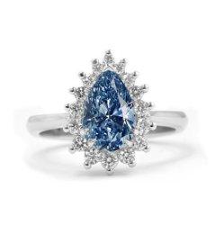 Fancy Vivid Blue Diamond Ring