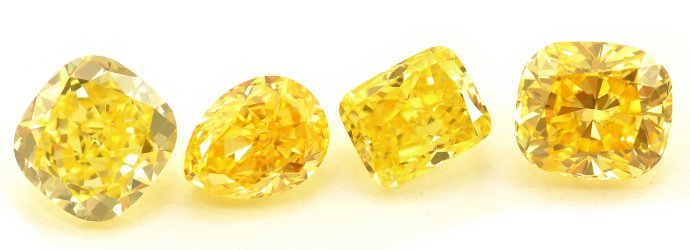 Fancy Vivid Yellow Diamonds