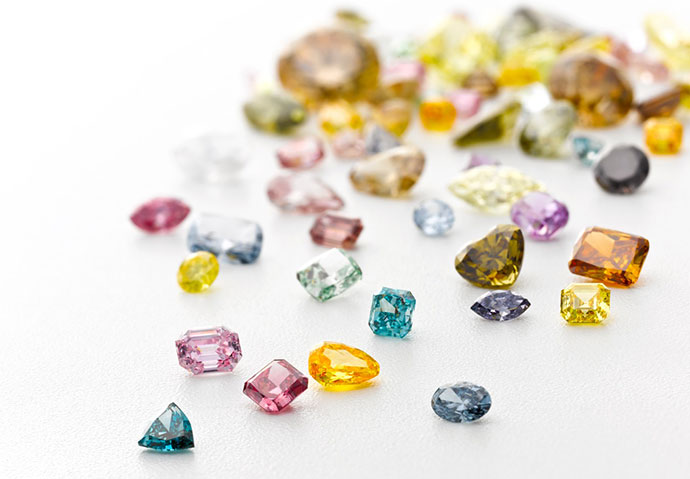A sweet selection of fancy color diamonds