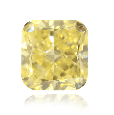 18.50 ct Natural Fancy Intense Yellow Cushion Cut Radiant Diamond