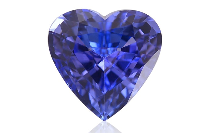 2.58 carat, Violet, Tanzanite, Heart Shape