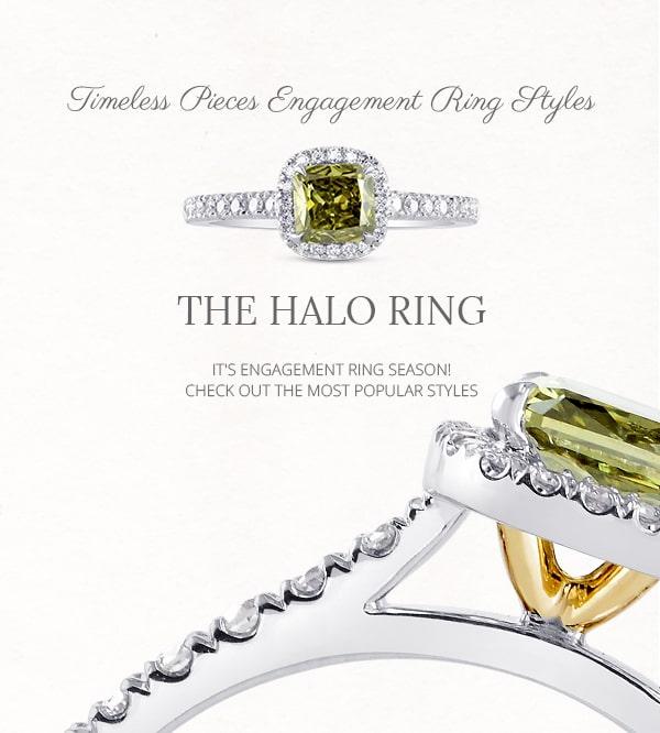 Halo Diamond and Gemstone Rings