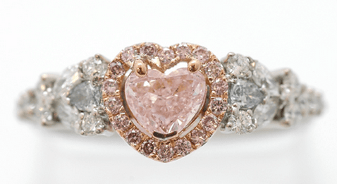 Falling in Love - A Fancy Purplish Pink Diamond Heart Shaped Ring