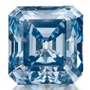 3.25 Carat, Fancy Vivid Blue, Square Emerald-Cut, IF