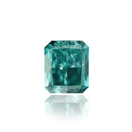 0.19, carat Fancy Deep Blue Green, Radiant