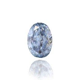 0.54 carat, Fancy Intense Blue, Oval