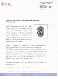 0.54 Carat TypeIIb Diamond Certificate