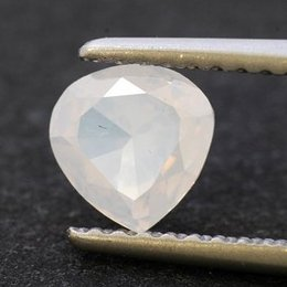0.64-carat, Fancy White, Heart Shape