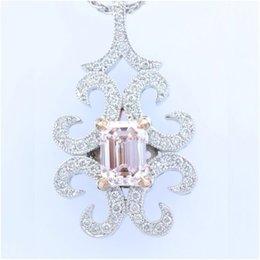 1.00 Ct Very Light Pink Emerald pendant