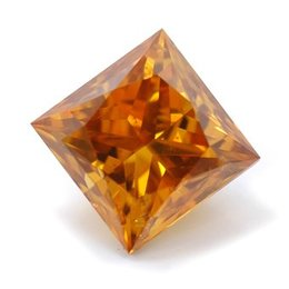 1.02 carat Fancy Deep Brownish Yellowish Orange, Princess-cut