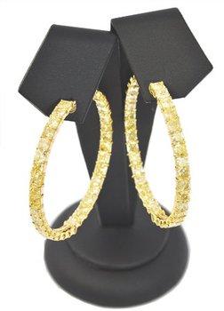 23.63 Carat, Fancy Yellow, Hoop Earrings