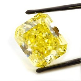 24+ Carat Fancy Vivid Yellow Radiant