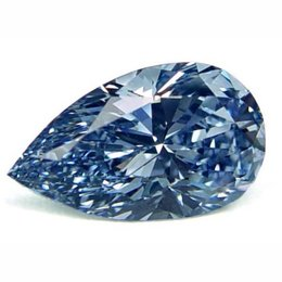 3+ Carat Fancy Vivid Blue Pear