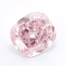 4+ Carat Fancy Purplish Pink IF Cushion