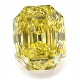 42+ Carat Fancy Intense Yellow Emerald
