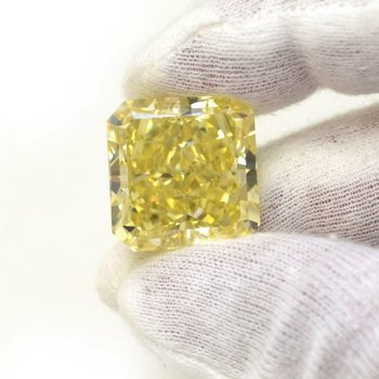 A large Canary Yellow Diamond Investment Stone