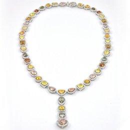 Multicolor Diamond Necklace