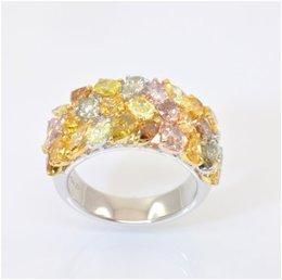 Multicolor Diamond Ring