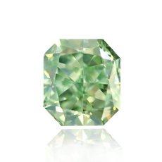 0.14 Carat, Fancy Intense Green Diamond, Radiant