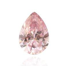 0.16 Carat, Fancy Intense Purplish Pink Diamond, Pear, SI1