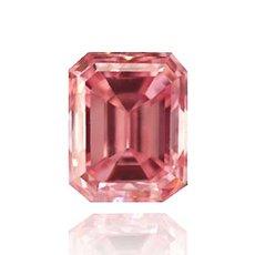 0.19 Carat, Fancy Intense Pink Diamond, Emerald