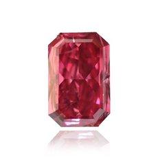 0.34 Carat, Fancy Purplish Red Diamond, Radiant, SI2