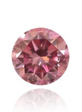 0.34 Carat, Fancy Vivid Pink Diamond, Round, VS2