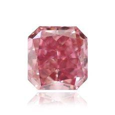 0.36 Carat, Fancy Vivid Purplish Pink Diamond, Radiant, SI1