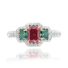 0.53 Carat, Fancy Red, Radiant, VS1