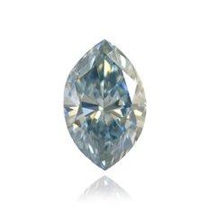 0.57 Carat, Fancy Gray Blue Diamond, Marquise, SI1
