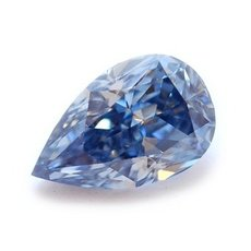 0.60 Carat, Natural Fancy VIVID Blue Diamond, Pear, SI1