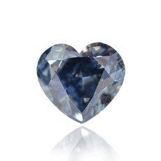 0.67 Carat, Fancy Deep Blue Diamond, Heart, VS2