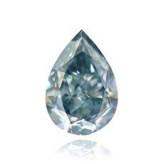 1.10 Carat, Fancy Grayish Blue Diamond, Pear, IF