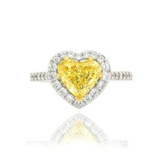 1.54 Carat, Fancy Intense Yellow, Heart, VS2