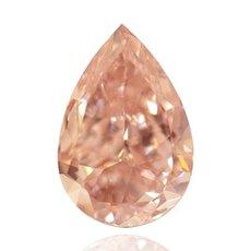 1.56 Carat, Fancy Brownish Orange Pink Diamond, Pear, IF
