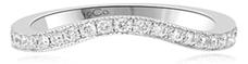 Trauring im Ewigkeitsdesign mit rundem brillanten Diamant in Pavéfassung, 0,49 Karat