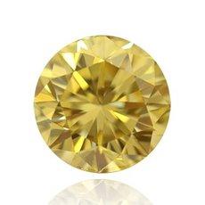 2.00 Carat, Fancy Intense Yellow Diamond, Round, IF