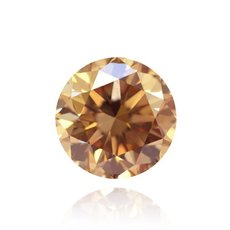 3.02 Carat, Fancy Light Brown Diamond, Round, VS2