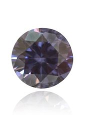 a 0.17-carat Fancy Violet, Round-shaped Diamond