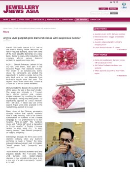 Jewellery News Aisa on The Leibish Prosperity Pink