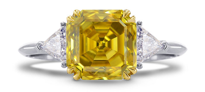 Fancy Deep Yellow Asscher Cut Diamond Ring, SKU 113670 (3.75Ct TW) Fancy Deep Yellow Asscher Cut Diamond Ring, SKU 113670 (3.75Ct TW) Video Fancy Deep Yellow Asscher Cut Diamond Ring (3.75Ct TW)