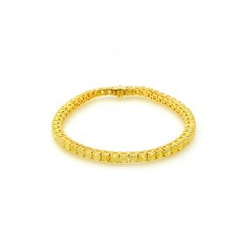 Fancy Yellow Radiant Diamond Tennis Bracelet