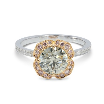 Light Gray and Fancy Pink Diamond Ring, SKU 150570 (1.82Ct TW)