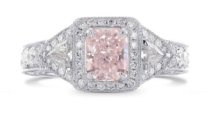 Fancy Light Pink Radiant Diamond Dress Ring, SKU 275232
